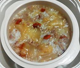 每日一粥: 秋冬季鳕鱼胶粳米粥的做法