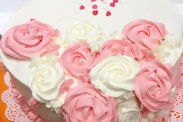 温情玫瑰奶油蛋糕的做法