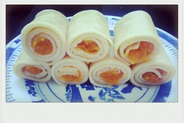 蛋饼南瓜卷的做法