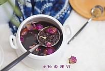 玫瑰红枣黑米粥的做法