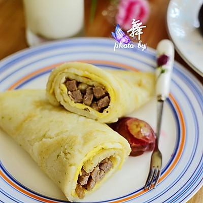 【冬瓜牛肉卷饼】冬瓜变身高大上的早餐