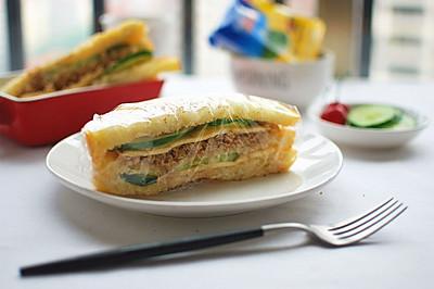 一键欧式三明治面包