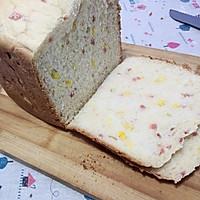 培根玉米土司(面包机版)的做法图解3