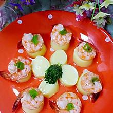 鲜虾蒸日本豆腐