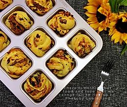 肉松海苔色拉小餐包的做法