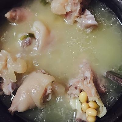 电饭煲版 黄豆猪蹄汤