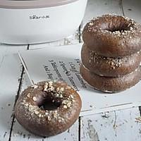 黑米燕麦贝果(波兰种)低糖低油补肾健脑健康瘦身早餐面包
