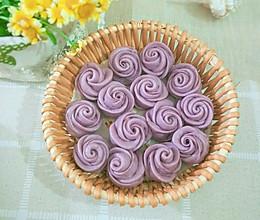 美好时光,玫瑰花紫薯馒头的做法