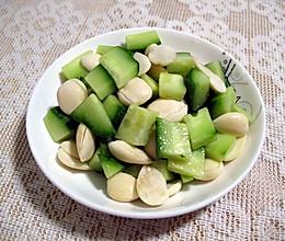 黄瓜拌杏仁的做法