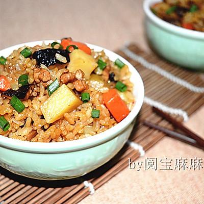 香菇土豆肉丁焖饭