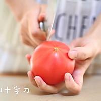 宝宝辅食食谱  番茄丝瓜补钙粥的做法图解3