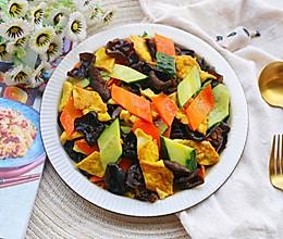#今天吃什么#黄瓜木耳炒鸡蛋的做法