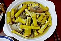 春天的家乡菜——猪脚招辣煲笋筒的做法