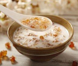 桃胶炖奶的做法