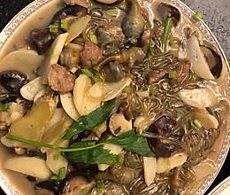 沙蒜绿豆面-温岭特色菜的做法