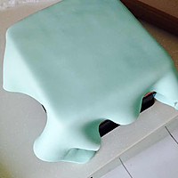 Tiffany礼物盒蛋糕的做法图解10