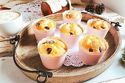 椰蓉蔓越莓玛芬纸杯蛋糕 快手早餐下午茶