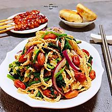 #餐桌上的春日限定#菠菜花生米洋葱拌羊肚丝
