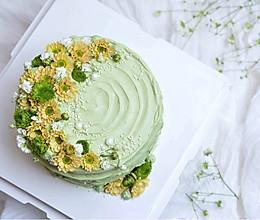 春暖花开抺茶草莓蛋糕(适合零基础)的做法