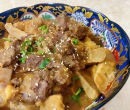 #一道菜表白豆果美食#芋头炖牛肉的做法