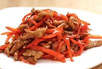 红椒炒肉丝—迷迭香的做法