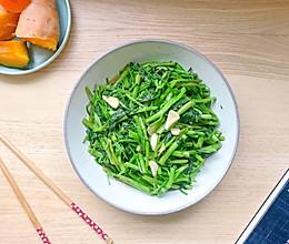 蒜香空心菜 — 绿色蔬菜之旅的做法