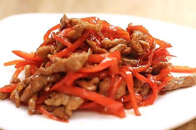 红椒炒肉丝—迷迭香