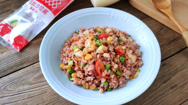 鲜虾时蔬饭#321沙拉日#的做法