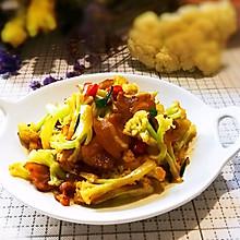 #换着花样吃早餐#干锅有机花菜