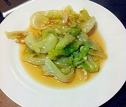 蒜茸耗油西生菜的做法