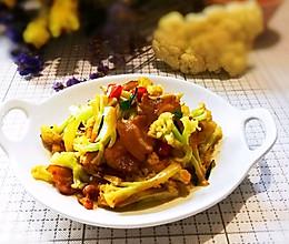 #换着花样吃早餐#干锅有机花菜的做法