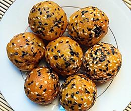 南瓜椰香芝麻球(小吃、小点心)的做法