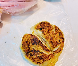#21天早餐打卡计划#手抓饼吃法七——芝士香蕉饼的做法