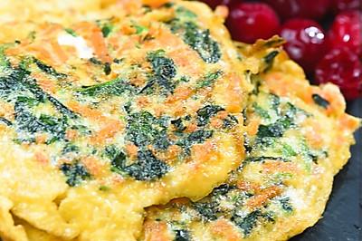 减肥早餐   胡萝卜菠菜蛋饼