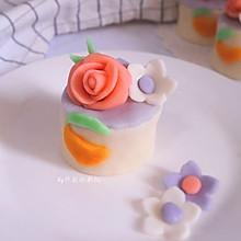 豆果翻糖小蛋糕#豆果6周年生日快乐#