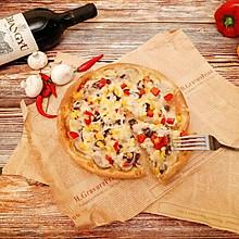 #新年开运菜,好事自然来#黑椒牛肉披萨(8寸盘)