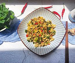 #做道懒人菜,轻松享假期#辣炒鸡蛋虾酱的做法