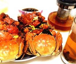 清蒸阳澄湖大闸蟹佐姜醋汁~~搭自制姜茶的做法