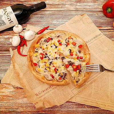 黑椒牛肉披萨(8寸盘)