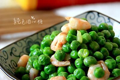 豌豆炒北极虾