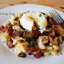 土豆粒煎香肠【美式经典早餐】Sausage Hash
