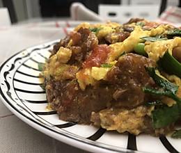 番茄嫩牛肉滑蛋的做法