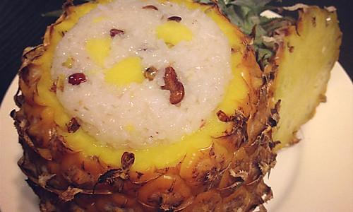 八宝菠萝饭的做法