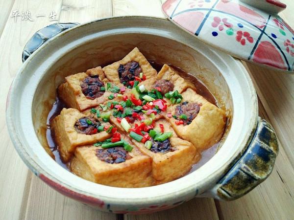 砂锅豆腐酿的做法