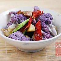 干煸紫花菜的做法图解10