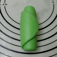 抹茶红豆眉毛酥的做法图解5