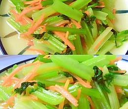 芹菜胡萝卜丝的做法