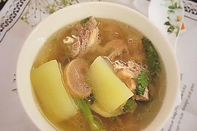 清甜鸭肉菜脯冬瓜汤