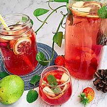 #夏日冰品不能少#高颜值火龙果西瓜水果薄荷茶