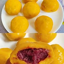 香甜软糯~无油无糖低卡的南瓜紫薯球